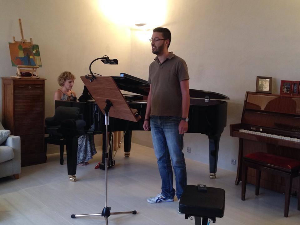 Concierto Alumnos canto con clase piano de cola Andrea