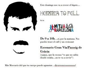 Cartel Hammer to Fall en la Media martón de Barcelona