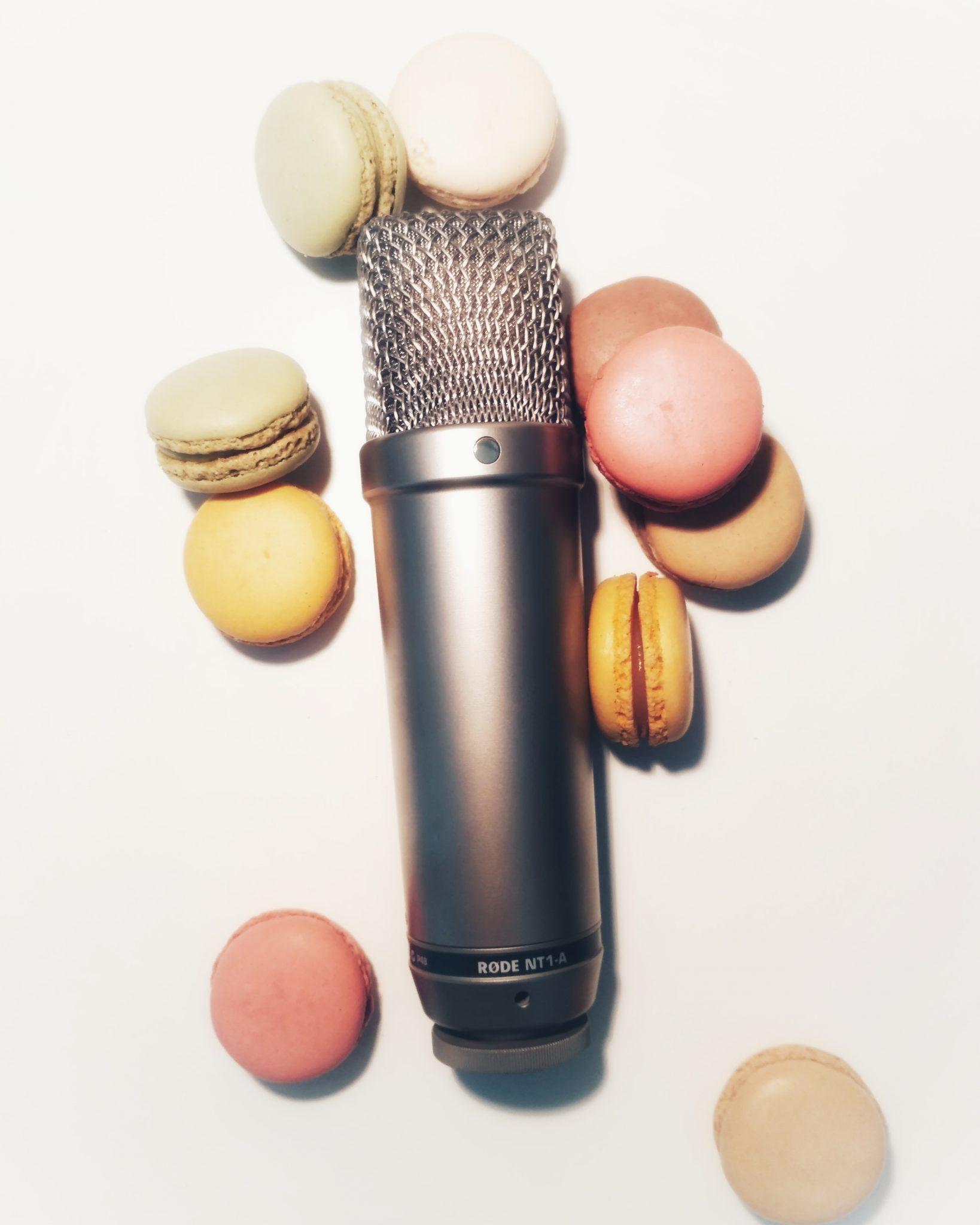 Sweet microphone macarons