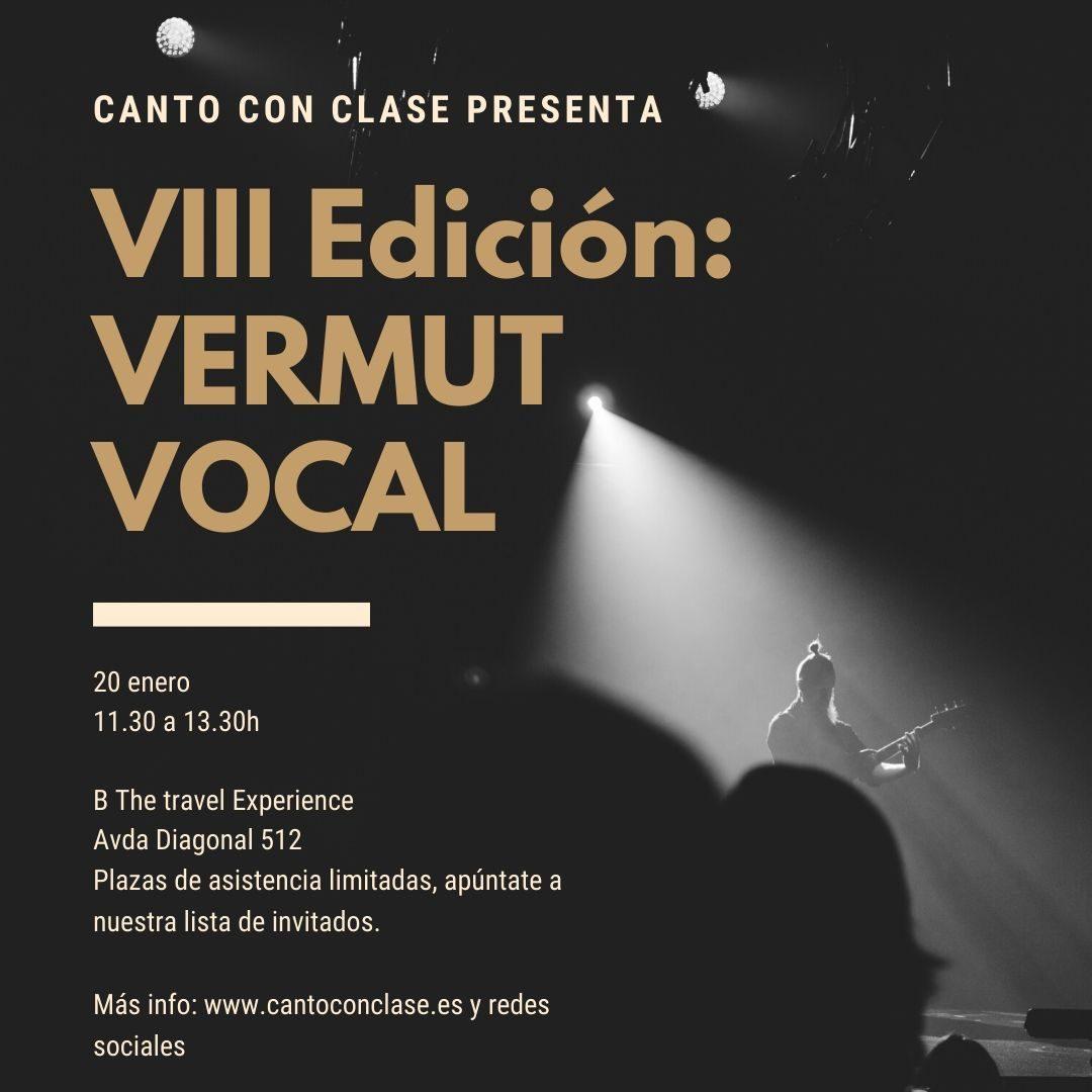 VIII edición Vermut Vocal de alumnos de Canto Con Clase enero 2019