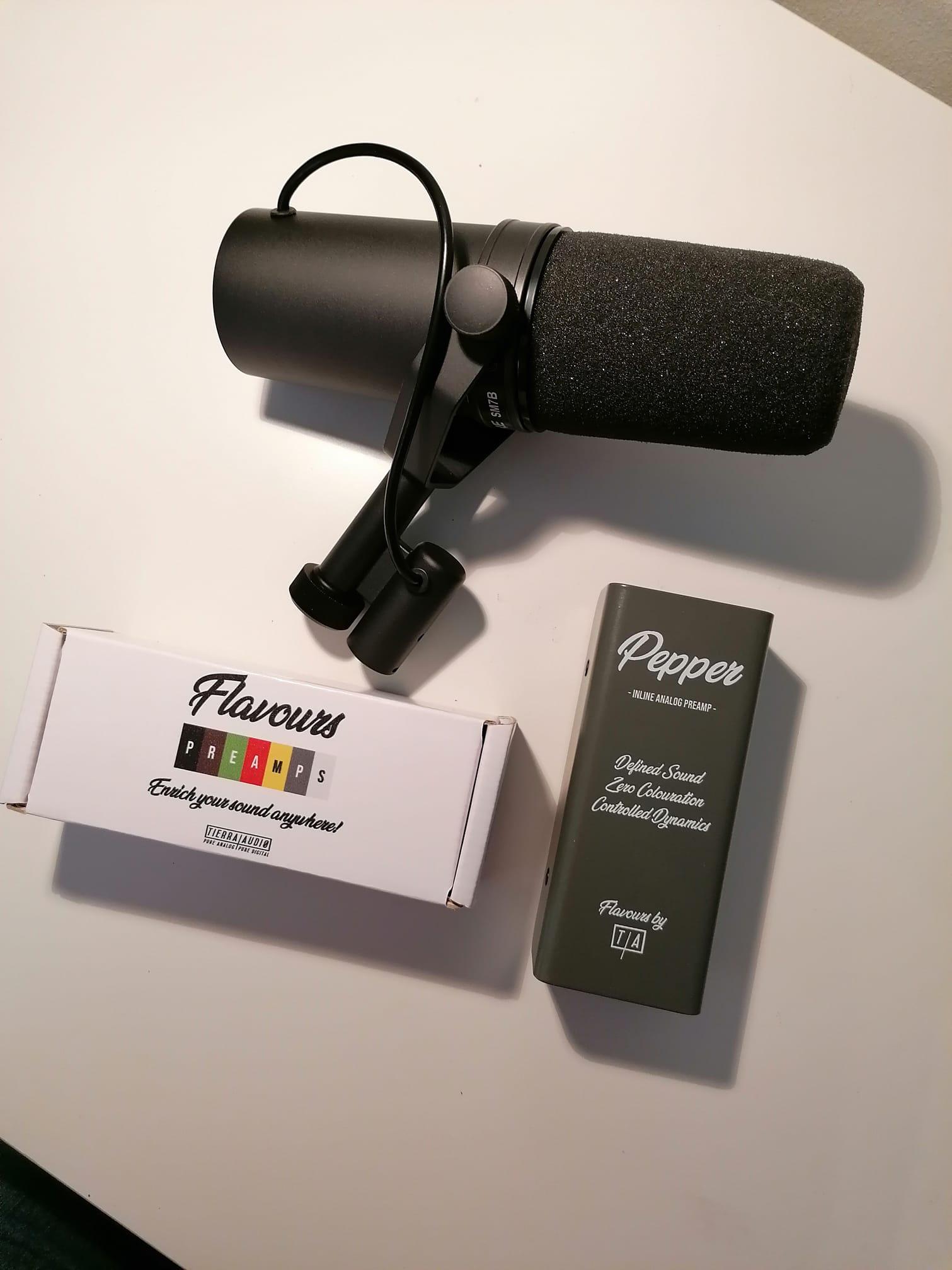 Pre-amp Tierra-Audio para shure SM7b