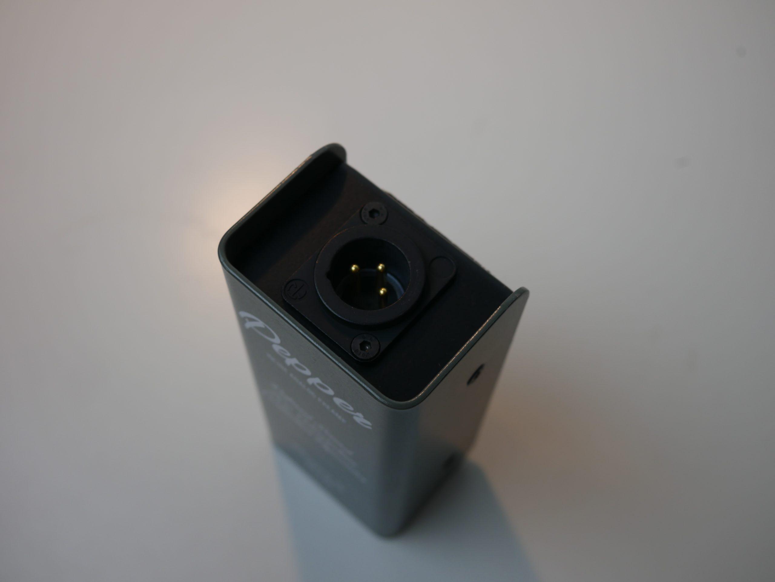 conectores del preamp pepper de Tierra Auido para micrófono Shure SM7b
