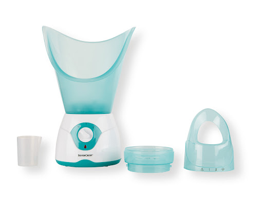 Sauna facial silvercrest para hidratar cuerdas vocales